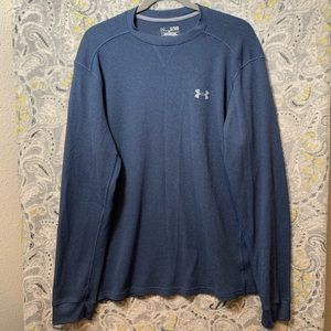 UNDER ARMOUR Men's XL Blue Thermal Long sleeve